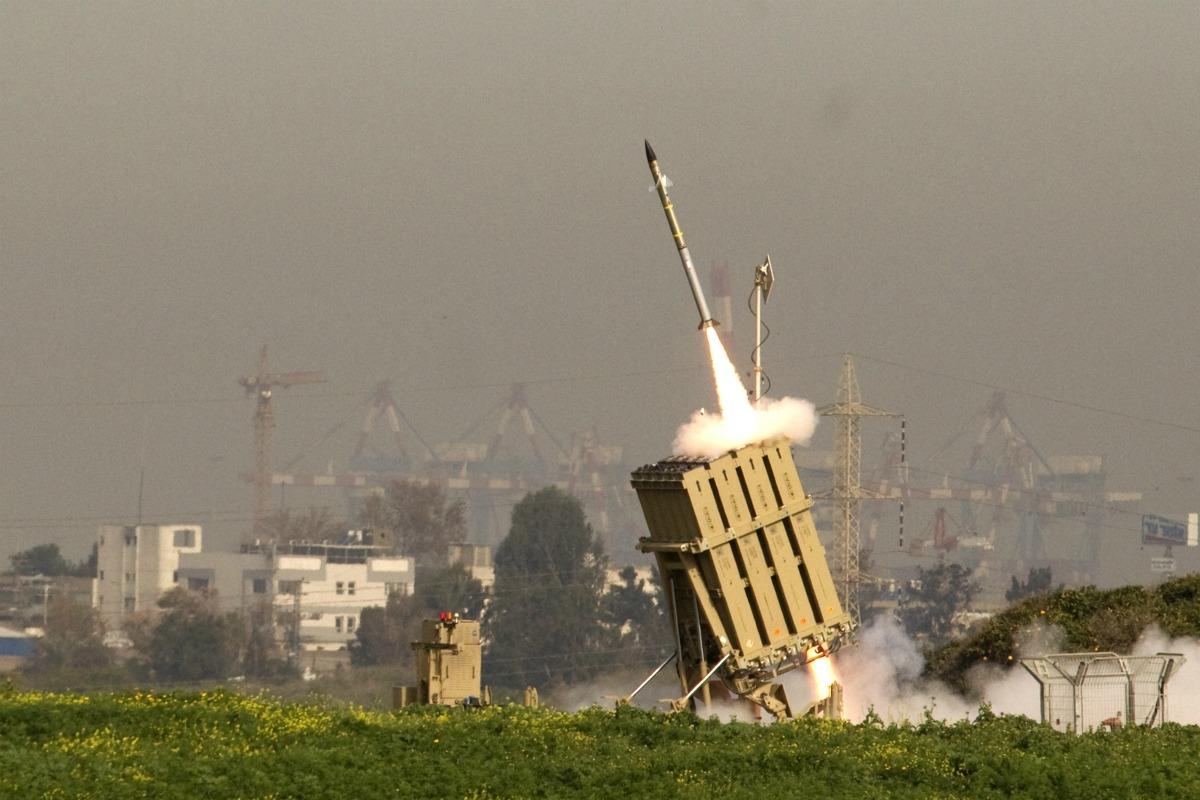 A Vaskupola elfogott 2 Gázából kilőttrakétát