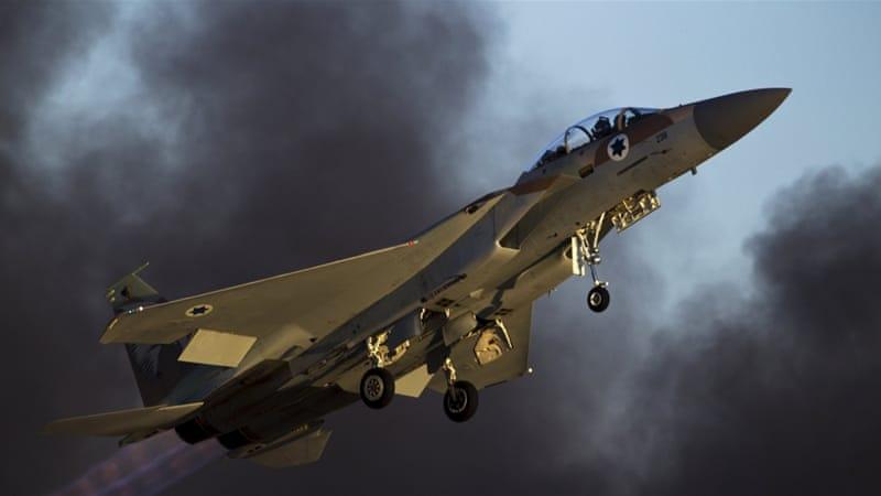 Izraeli légicsapások Gázában a szerda estirakétákért