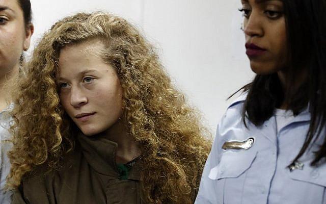 Ahed Tamimi őrizetben marad az eljárásvégéig